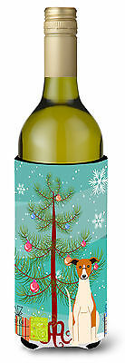 Merry Christmas Tree Whippet Wine Bottle Beverge Insulator Hugger
