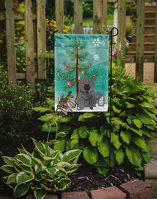 Merry Christmas Tree Chow Chow Blue Flag Garden Size