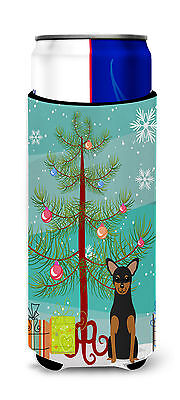 Merry Christmas Tree Manchester Terrier Michelob Ultra Hugger for slim cans