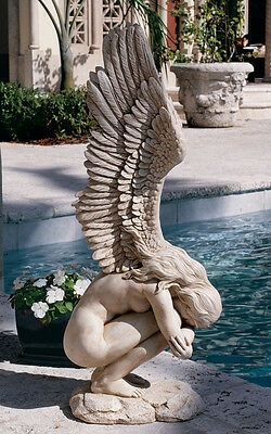 Modern Winged Nude Nakid Female Girl Angel Sculpture Statue 2