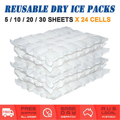 5 / 10 / 20 / 30 Sheets Dry Gel Ice Packs Cooler Hydratable Reusable Cuttable
