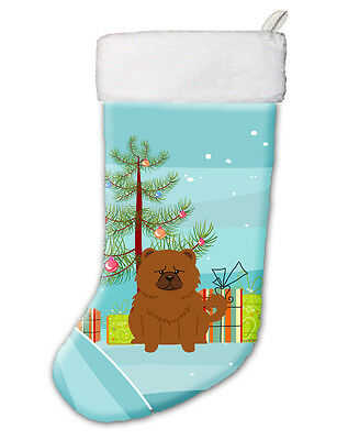 Merry Christmas Tree Chow Chow Red Christmas Stocking