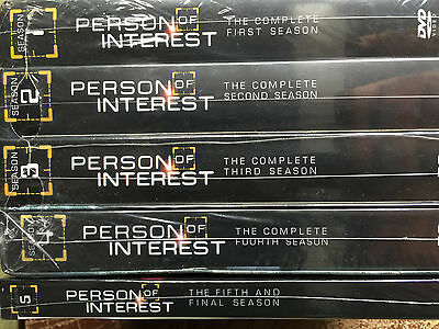 Person of Interest:The Complete Series Seasons 1-5 DVD BOX SET New & Sealed