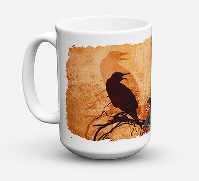 Beware of the Black Crows Halloween Dishwasher Safe Microwavable Ceramic Coffee