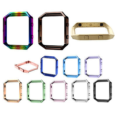 Stainless Steel Metal Watch Frame Holder Shell For Fitbit Blaze Smart Watch R7P7