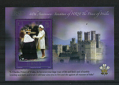 Jersey 2009 Prince of Wales 40th Anniversary ss--Attractive Topical (1382) MNH