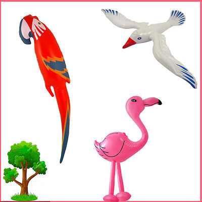 Blow-Up Birds Inflatable Parrot/Seagull/Flamingo Kid's Fun Party Bag Fancy Dress
