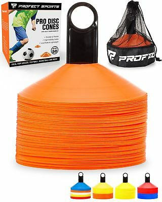 50 Orange Disc Cone Soccer Football Field Training Equipment Team Sport