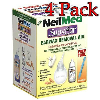 NeilMed SuavEar Earwax Removal Aid Kit, 1ct, 4 Pack 705928603066A385