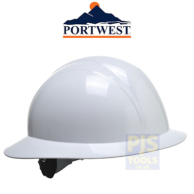 Portwest PS52 white full brim hat hat safety helmet american style