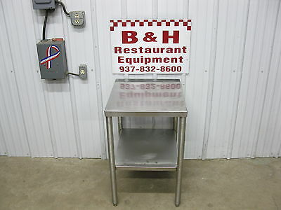 """Heat Seal 20"""" x 24"""" Stainless Steel Heavy Duty Table / Mixer Equipment Stand 2'"""