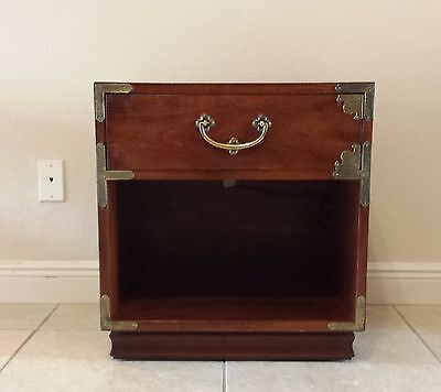 1970's Henredon Asian Campaign Nightstand Original Condition