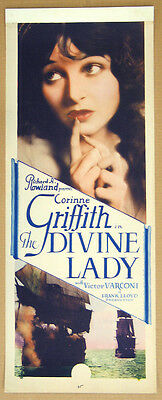 The Divine Lady '29 Corinne Griffith Varconi Frank Lloyd Original Insert Silent