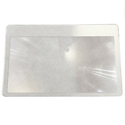 Magnifying Glass 3x Zoom Credit Card Sized Pocket Wallet Reading Aid Magnifier