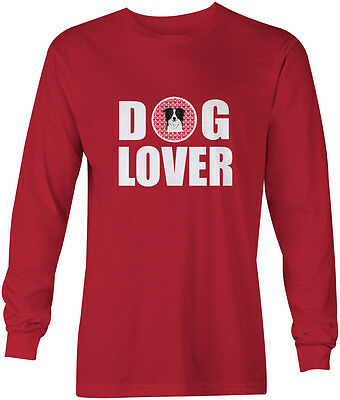 Border Collie Dog Lover Long Sleeve Red Unisex Tshirt Adult Medium