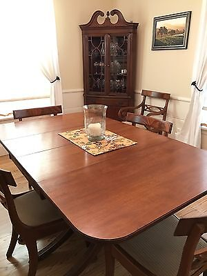 Duncan Phyfe Dining Set in excellent condition