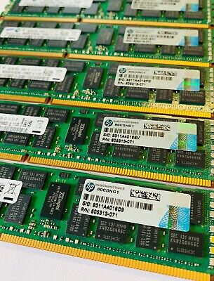 64GB (8X8GB DIMMs) Memory Kits for HP IBM DELL PC3-10600R ECC 1333MHz Servers