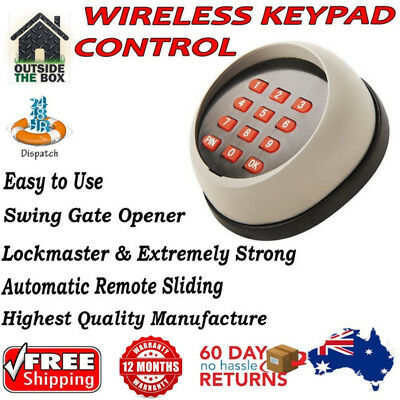 Wireless Keypad Control for Automatic Remote Sliding or Swing Gate Opener New