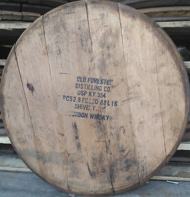 Bourbon Whiskey Barrel Heads, VINTAGE 1980s OLD FORESTER w/Official Dist. Stamp!