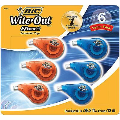 NEW BIC Wite-Out EZ Correction Tape - 6 pk.  FREE SHIPPING