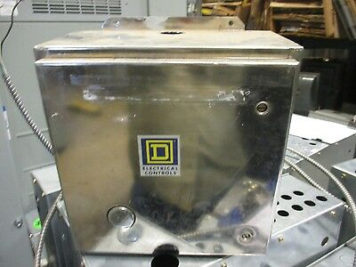 Square D LO1200, 12 Pole Lighting Contactor w/ Stainless Steel Enclosure