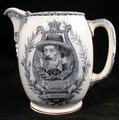 c. 1892 Alfred Tennyson Doulton Ceramic Pitcher