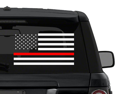 THIN RED line US american flag FIREFIGHTER decal for car truck yeti