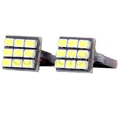 20 PCS Super White T10 Wedge 9-SMD Interior LED Light bulbs W5W 194 168 2825 158