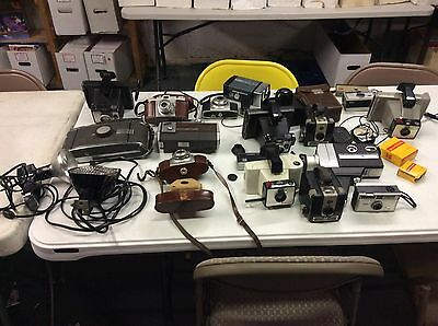 Vintage Lot Of Older Cameras Sold As Is Take A Look