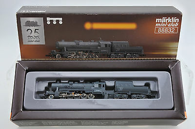 Marklin Z Mini-Club 88832 Br 52 Gray 2-10-0 Steam Engine And Tender   -B