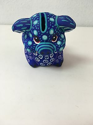 "Hand Made Small Ceramic Piggy Bank , Multicolor , One Of A Kind , 3.7"" X 4.5 ""#3"