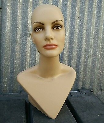 LESS THAN PERFECT MN-414 Female Mannequin Head Form Display with V Neck Bust