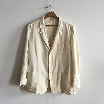 Vintage 1950s White Palm Beach Jacket Blazer (as is) Chest 45