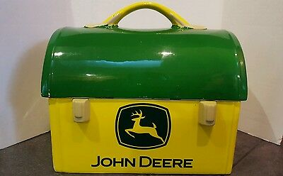 John Deere Gibson ceramic lunch box cookie jar. 2005. DISPLAY