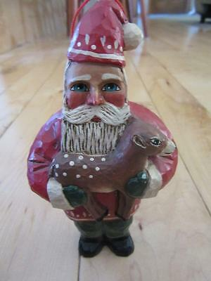 """Midwest Cannon Falls Randy Tate 6"""" Santa Claus With Baby Deer Fawn"""