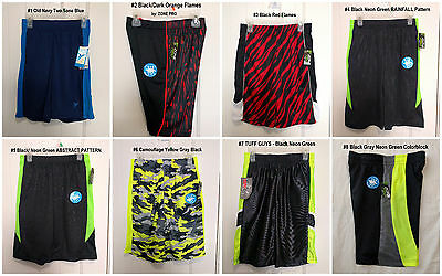 NWT Boys' Athletic Sports Active Basketball Running Shorts 6-7 8-10 10-12 12-14