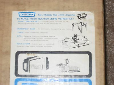 Vintage Sears Craftsman Router Template 9 25182 w/ Letters & Numbers