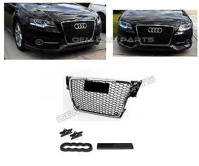 RS4 Grill Audi A4 B8 8K S4 S line Limo Avant Kühlergrill Wabengrill Frontgrill