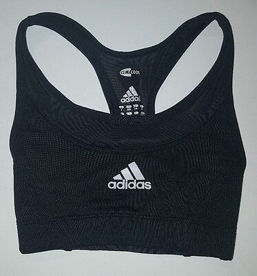 Adidas Racerback Athletic Sports Bra Little Girl Size 3 XS Black