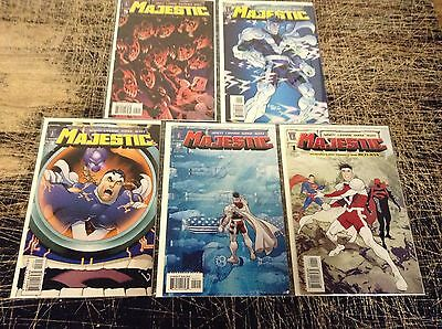 Lot Of 5 Majestic Wildstorm DC Comic Books # 1 2 3 4 5 Limited Series Hero A16