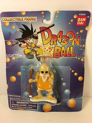 "RARE 1995 Bandai Dragon Ball Z Master Roshi 2 1/2"" figure #3800 Toy TV ANIME"