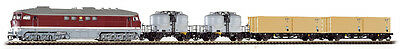 PIKO 47010 TT Gauge Train set diesel locomotive BR 130 + Freight car the DR,