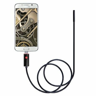 7mm Android HD Endoscope Waterproof Snake Borescope USB Inspection Camera 6 LEDS