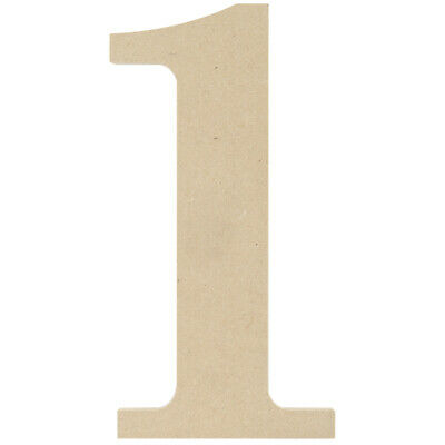 """MPI MDF9-L425 MDF Classic Font Wood Letters /& Numbers 9.5/""""-Y 6Pk"""