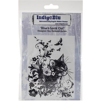 IndigoBlu IND0175  Cling Mounted Stamp 5X4-Blues Look Out