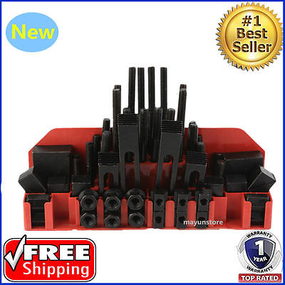 58Pcs T-Slot Code Clamping Kit Fixture Plates For Milling Machine Accessory USA