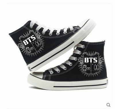 Hot!! Anime bts high-top canvas shoes, casual unisex