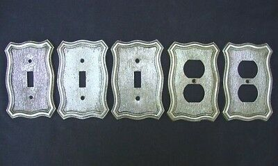 5 Vintage American Tack & Hdwe 1968 Metal Outlet Light switch Covers Face Plate