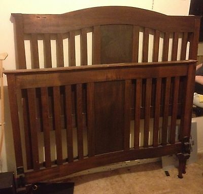 Antique Vintage timber double bed ends. Knoxfield, Melbourne
