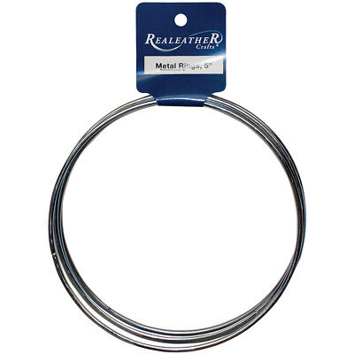 "Realeather Crafts BRI-05-04 Zinc Metal Rings-5"" 4/Pkg (6Pk)"